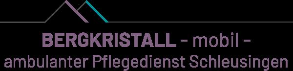 Bergkristall Pflegedienst Schleusingen - Logo